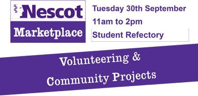 Volunteering Fair - Tuesday 30th September