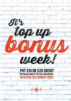 Refectory Bonus Week: w/c 22nd February 2016