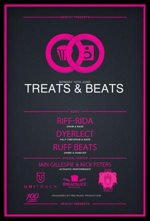Treats and Beats Poster