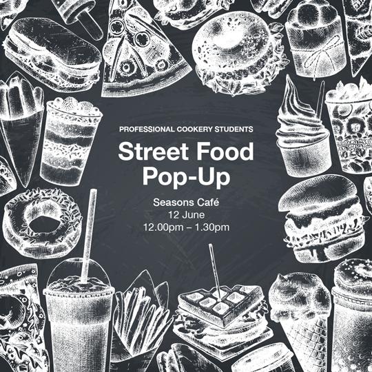 Street food pop-up on 12th June 2019
